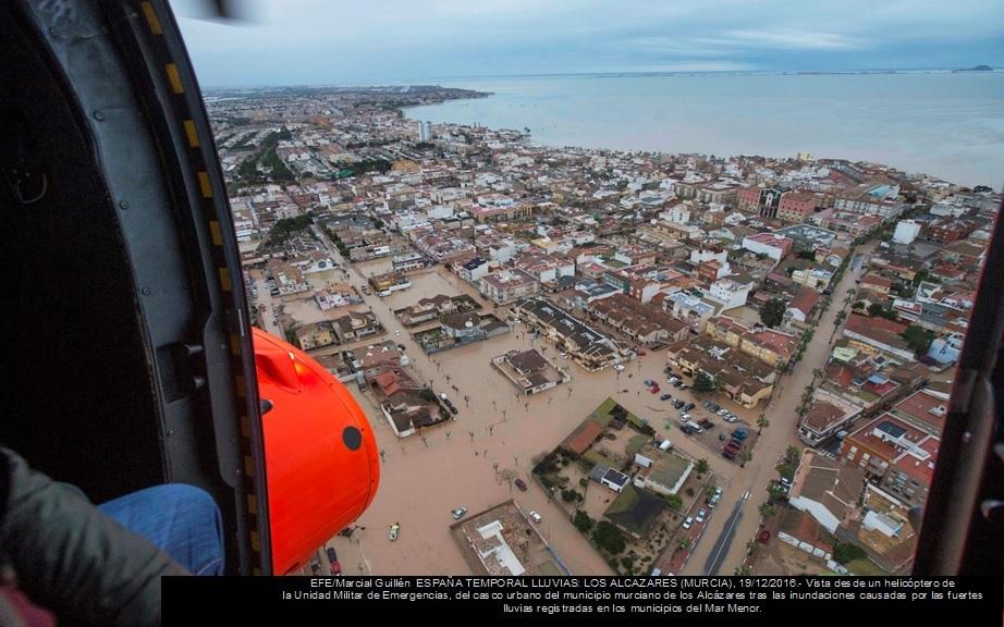Población en riesgo por inundaciones en la costa española